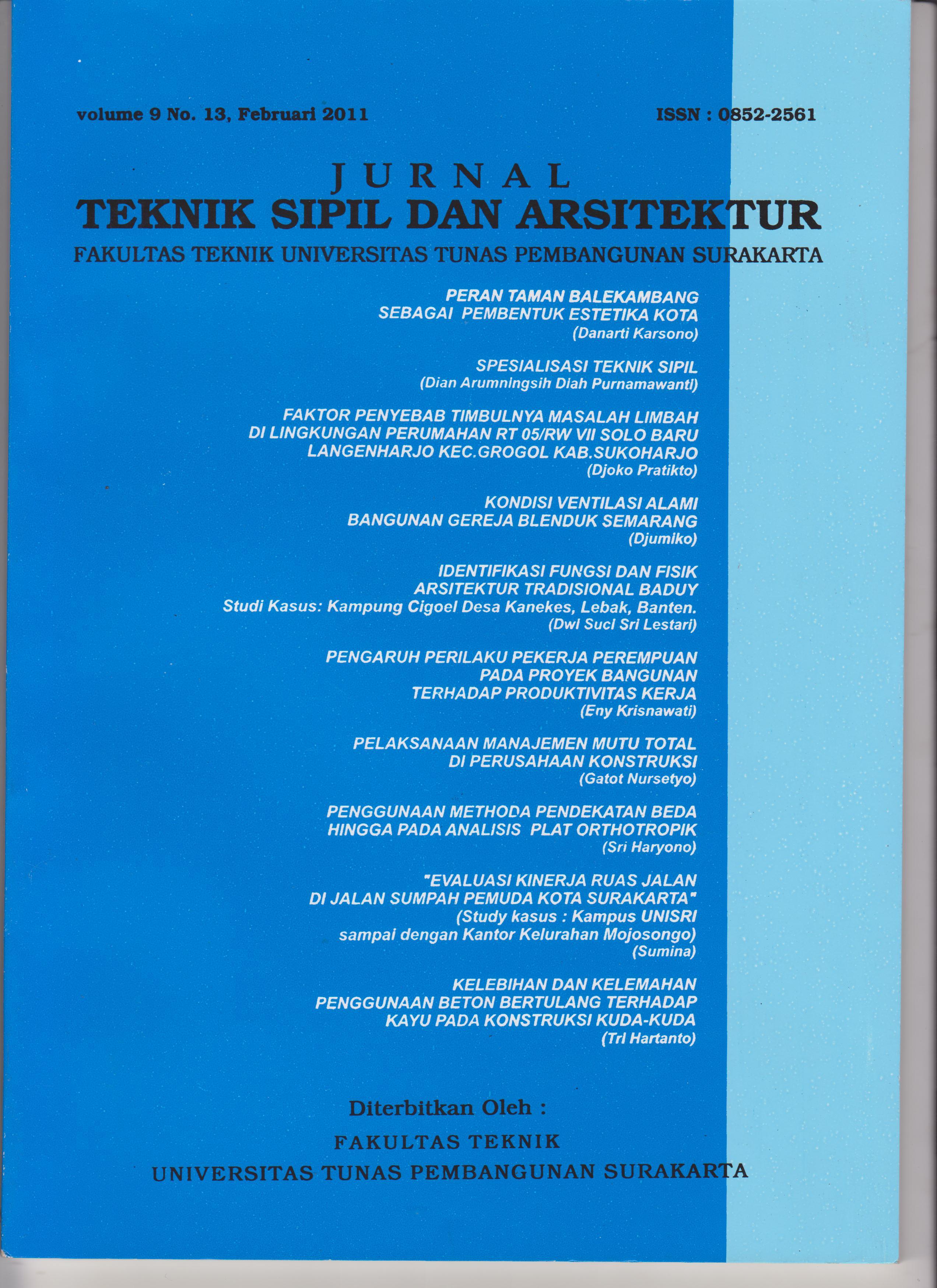 Jurnal manajemen konstruksi pdf